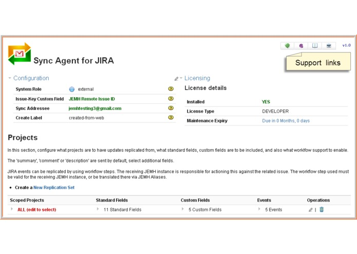 Sync Agent for JEMH on JIRA – screenshot 1