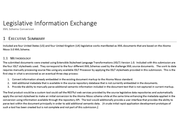 Legislative Information Exchange XML Schema Conversion – screenshot 1