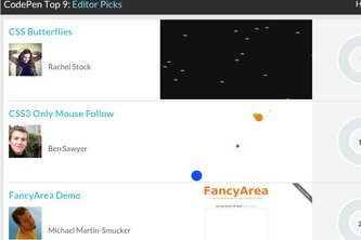 CodePen Top 9: Editor Picks