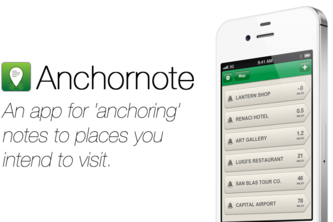 Anchornote (Plan trips by 'anchoring' notes to places)