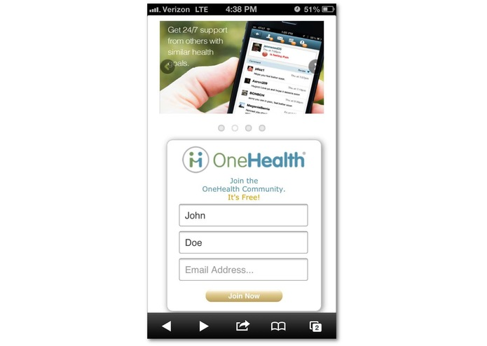 OneHealth Solutions, Inc. Behavior Change Platform – screenshot 1