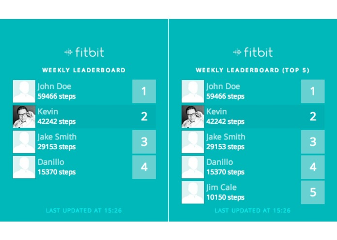 Fitbit Leaderboard – screenshot 1