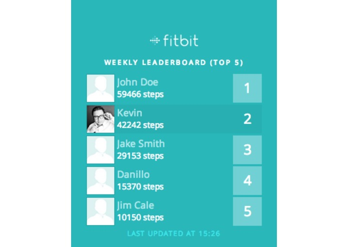 Fitbit Leaderboard – screenshot 3