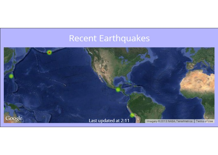 Recent Earthquakes – screenshot 1