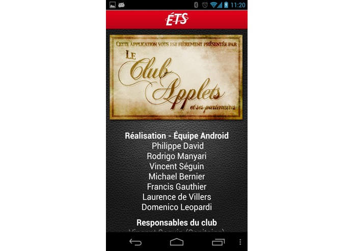 ETSMobile – screenshot 2