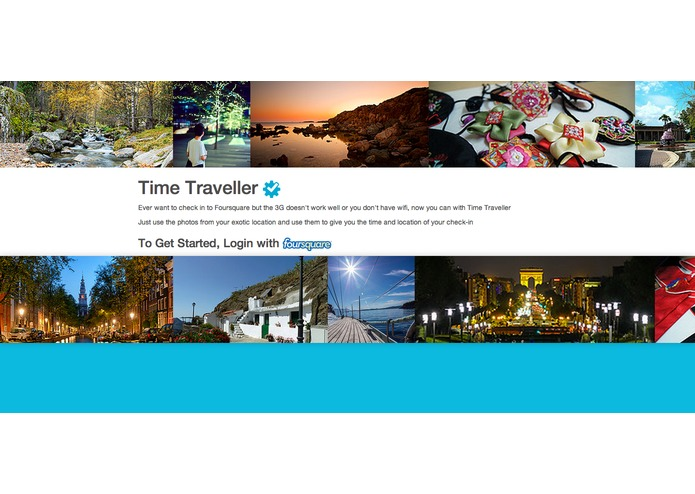 Time Traveler powered by FourSquare – screenshot 1