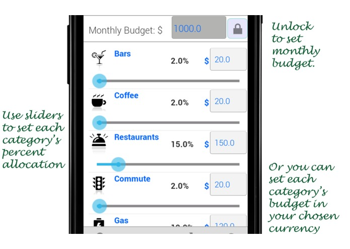 Track your expenses Gingerly – screenshot 3
