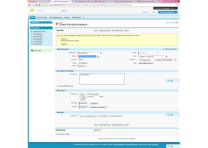 Salesforce Patient Engagement – screenshot 2