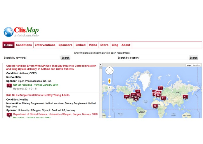 ClisMap - Clinical Trials Finder – screenshot 1