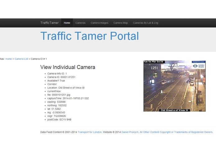 Traffic Tamer Portal – screenshot 1