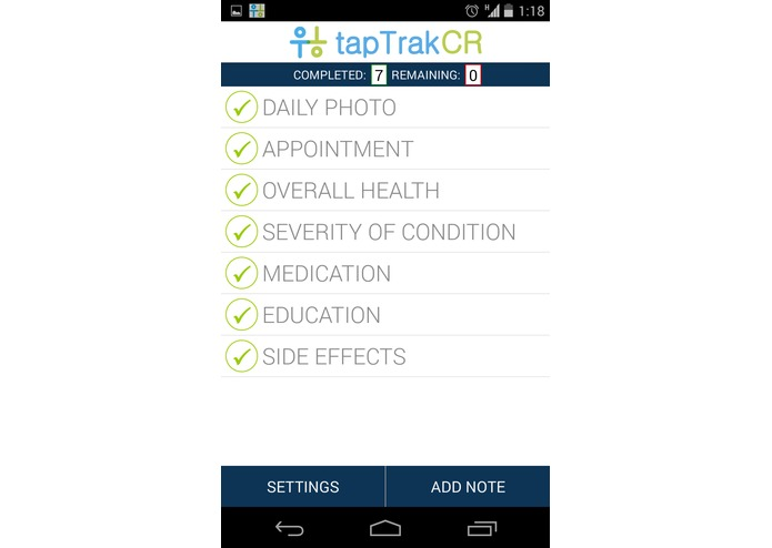 tapTrak CR – screenshot 1