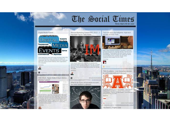 The Social Times – screenshot 1