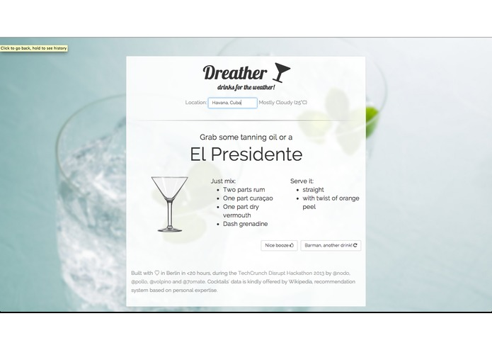 Dreather - drinks for the weather – screenshot 1