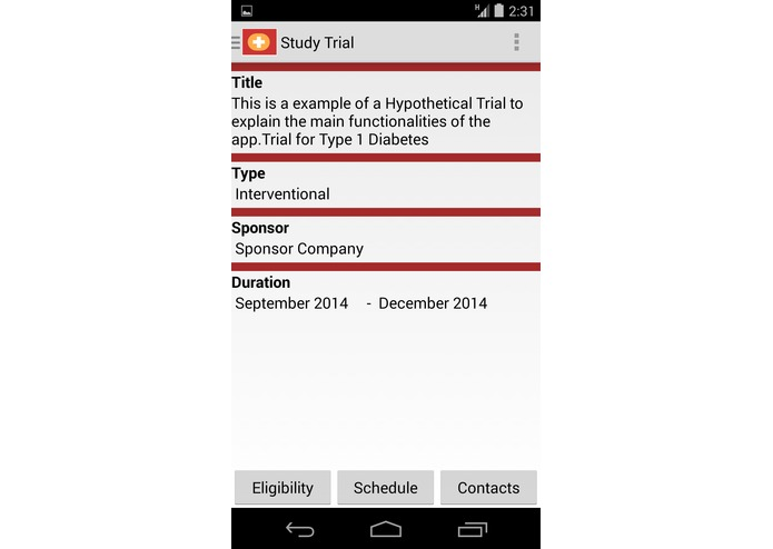 MDCliniQTrial – screenshot 4