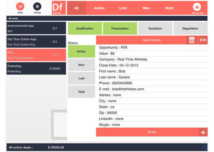 DealFlow app- The CRM User Experience re-imagined – screenshot 3