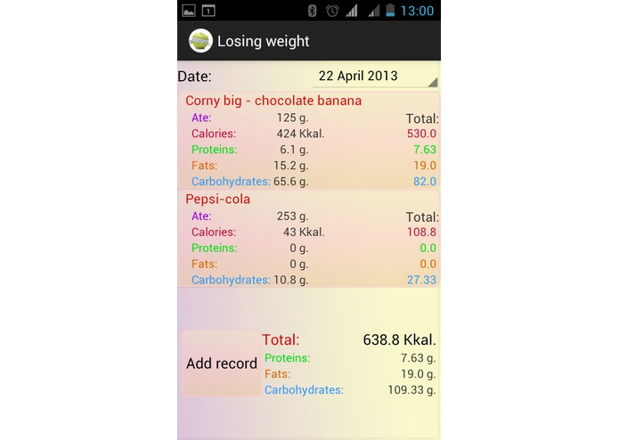 Losing weight  – screenshot 5