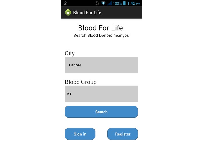 Blood For Life: Blood Donor Directory & Stakeholder Exchange – screenshot 4