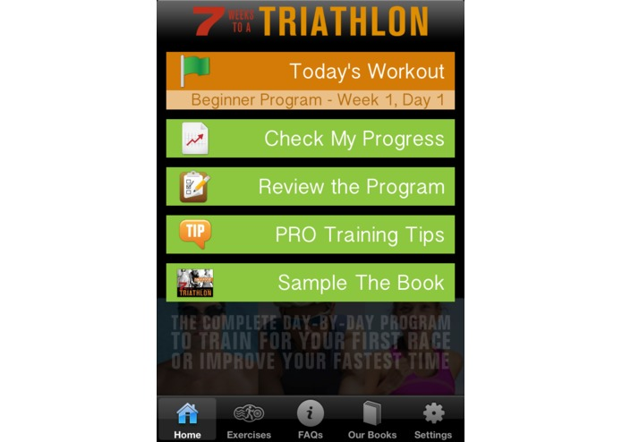 7 Weeks to a Triathlon App – screenshot 1