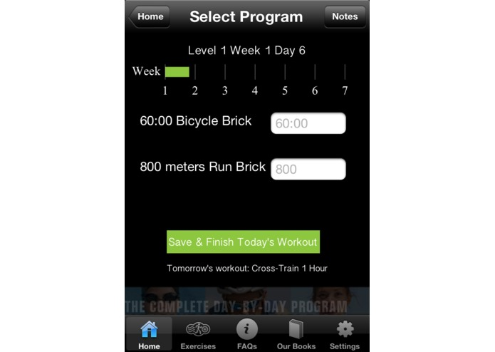 7 Weeks to a Triathlon App – screenshot 2