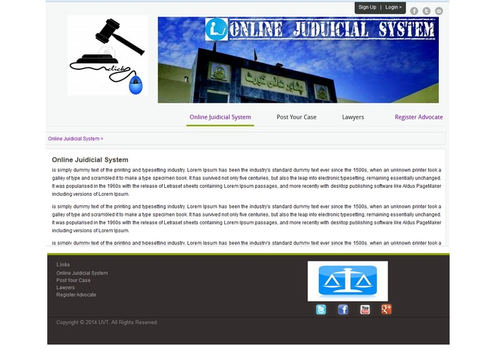 E-lawyers – screenshot 1