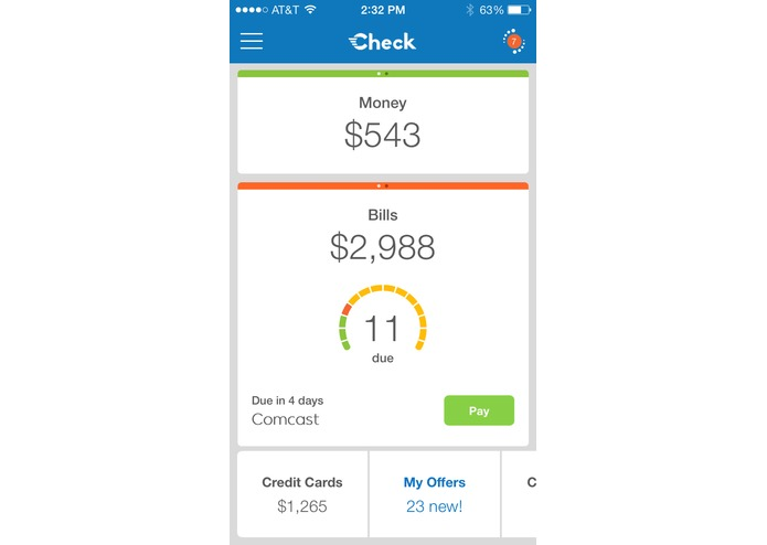 Check.me: Mobile Bill Pay Application – screenshot 3