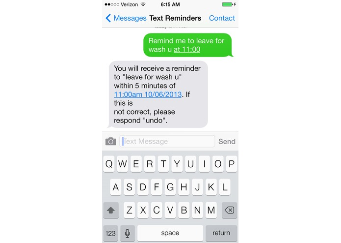 Reminders by Text – screenshot 3