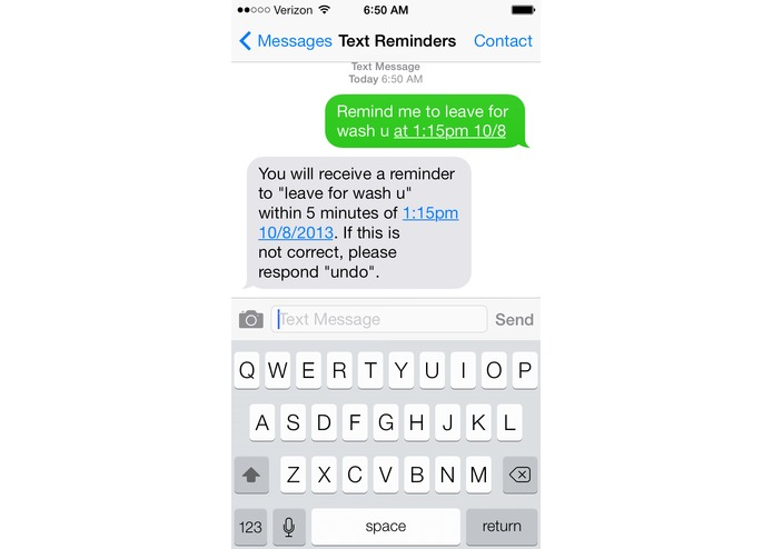 Reminders by Text – screenshot 4