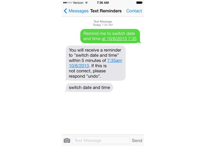 Reminders by Text – screenshot 5
