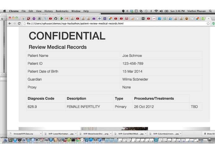 mynyp portal - designing a patient-centric version – screenshot 2