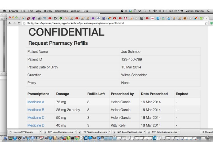 mynyp portal - designing a patient-centric version – screenshot 5