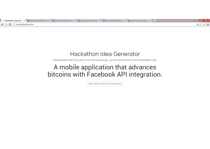Win A Hackathon – screenshot 1