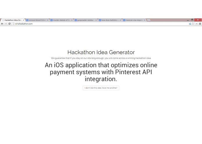 Win A Hackathon – screenshot 2