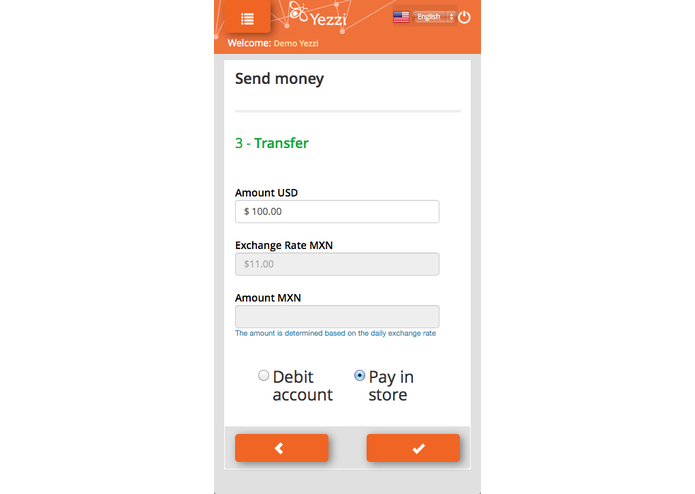 Yezzi. A whole new way to transfer money  – screenshot 3