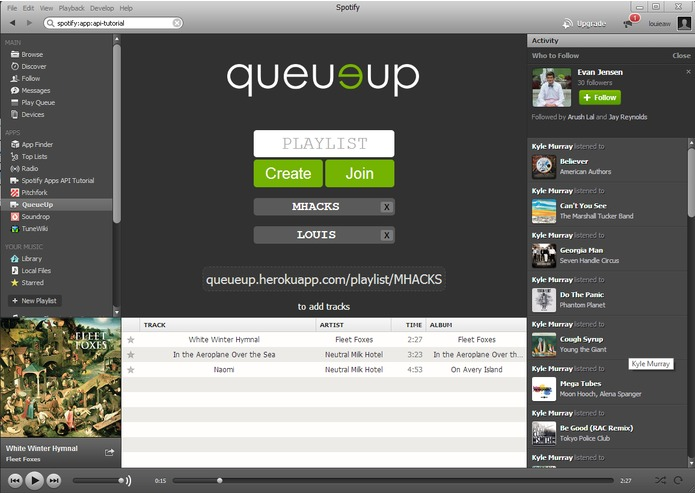 QueueUp – screenshot 2