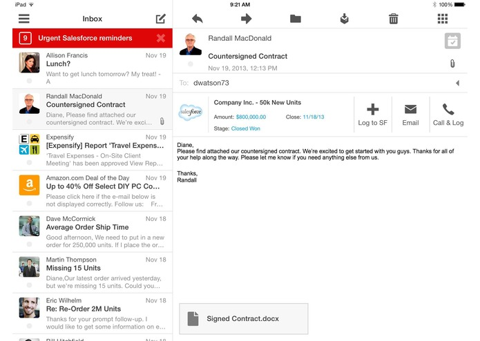 Boxer For Salesforce – screenshot 2