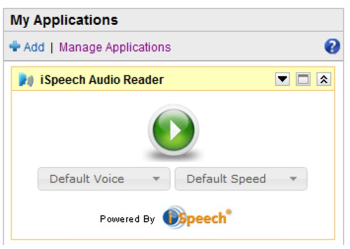 iSpeech Audio Reader – screenshot 3
