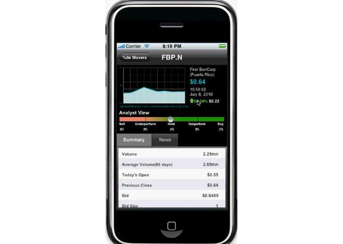 StocksInMotion for BlackBerry – screenshot 3