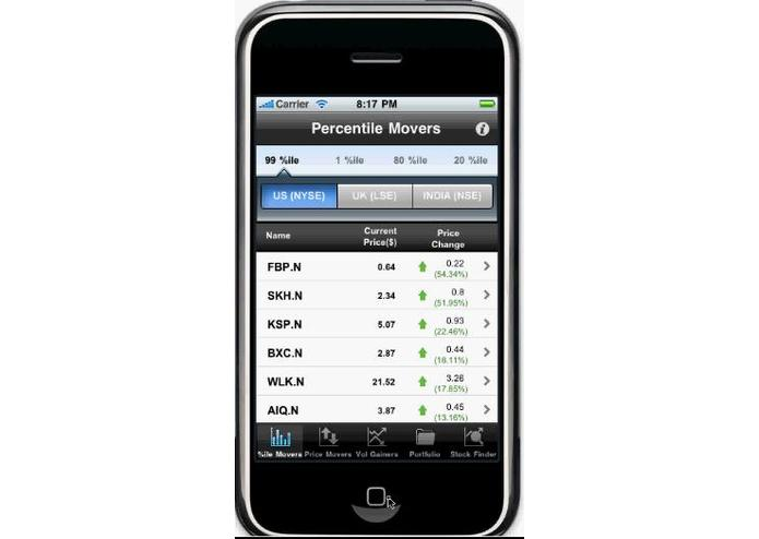 StocksInMotion for BlackBerry – screenshot 4