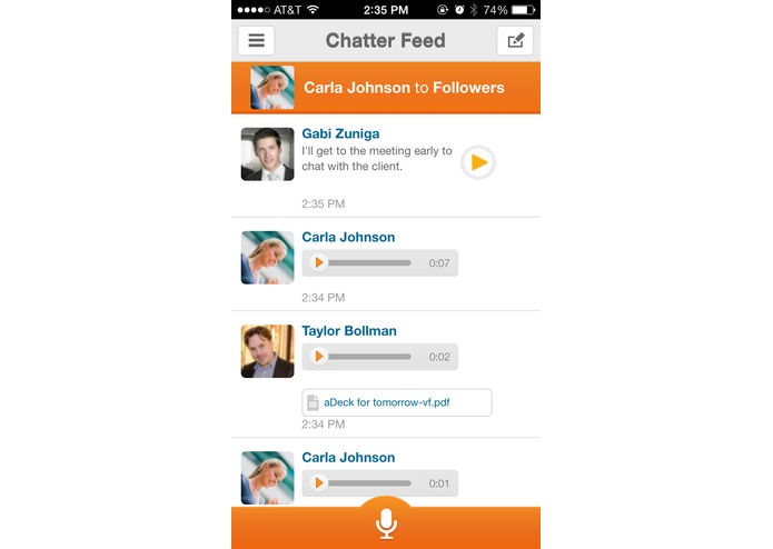 VoiceLayer for Salesforce Mobile – screenshot 4
