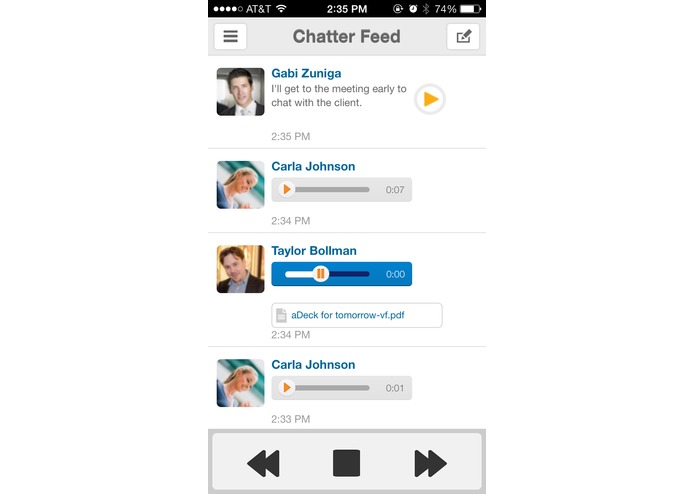 VoiceLayer for Salesforce Mobile – screenshot 5