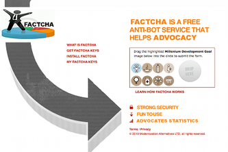 FACTCHA: Stop Spam, Advocate for the MDGs!