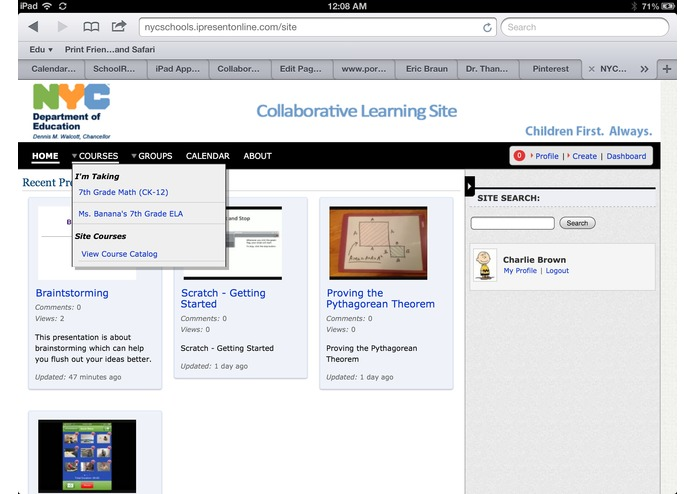 30hands Collaborative Learning Site – screenshot 2