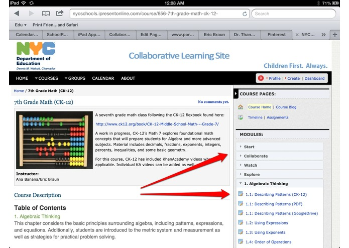 30hands Collaborative Learning Site – screenshot 3