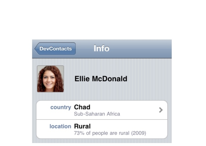 DevContacts – screenshot 4