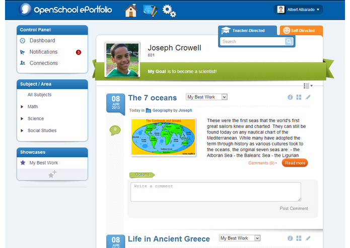 OpenSchool ePortfolio – screenshot 3
