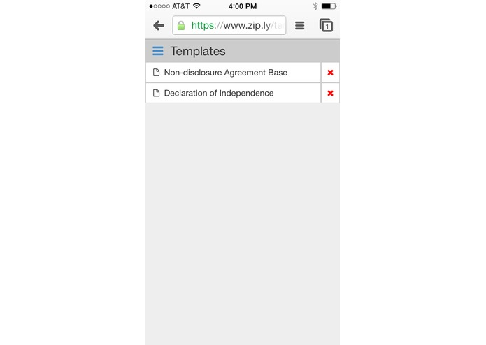 Zip.ly - HTML5 Document Signing Service – screenshot 2