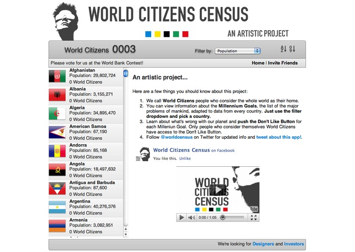 World Citizens Census - An Artistic Project – screenshot 2