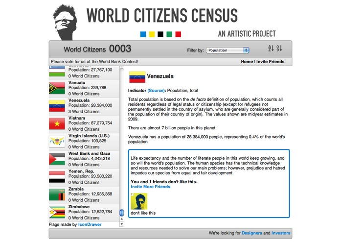 World Citizens Census - An Artistic Project – screenshot 3