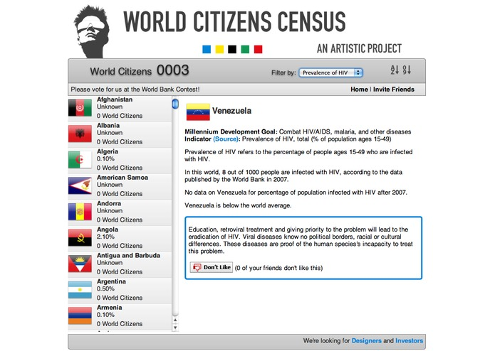 World Citizens Census - An Artistic Project – screenshot 4