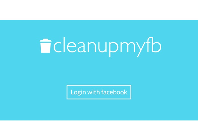 Clean Up My Facebook – screenshot 1